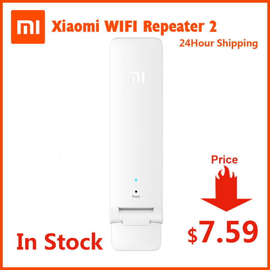 Original In Stock Xiaomi WIFI Repeater 2 Amplifier Extender 2 Universal Repitidor Wi-Fi Extender 300Mbps 802.11n Wireless