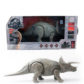GloryStar Simulation Electric Triceratops with Sound Light Cartoon Animal Model Children Educational Toy