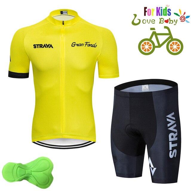2020 strava criança bicicleta meninos roupas conjunto camisa de ciclismo respirável secagem rápida crianças adorável ciclismo roupas terno 6