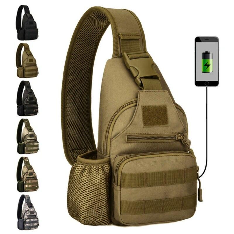 Мужская сумка на ремне, нагрудная сумка с usb зарядным портом, уличные дорожные сумки, S порт, s сумка через плечо/BY| |   | АлиЭкспресс
