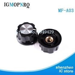 10 piezas perilla de potenciómetro de baquelita/RV24 3590S perilla de potenciómetro de MF-A03 sombrero de aluminio de baquelita 6mm 6,35 m