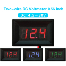 1PCS DC 4.5V to 30V Red /Green /Blue Digital display voltager Panel Meter