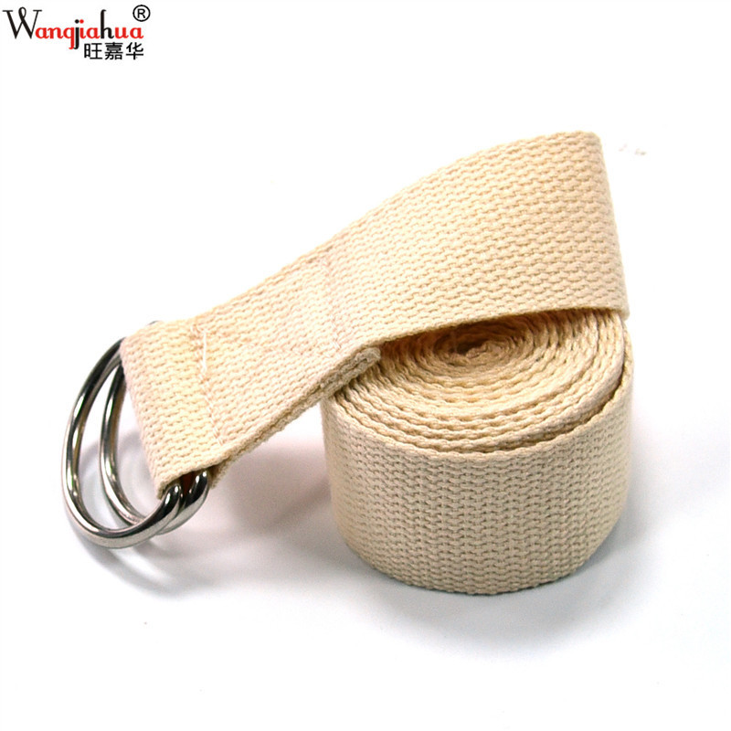 """White Pure Cotton """"Stretching Belt yu jia sheng Stretch Strap Lacing Open Shoulder Shower Back Strap Power Training Yoga Accesso"""