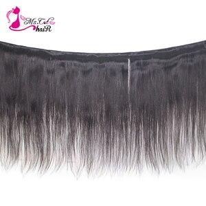 Image 2 - Волосы Ms Cat, бразильские прямые волосы, 1/2 пучка, 100% натуральные кудрявые пучки волос, натуральный цвет, 8 26 дюймов, Remy, накладные волосы