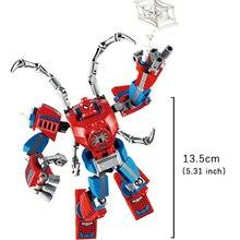 Spiderman Marvel Avengers Star Wars Black Warrior Iron Man Homem Aranha Figure brinquedos Toy Building Block Action Assembly