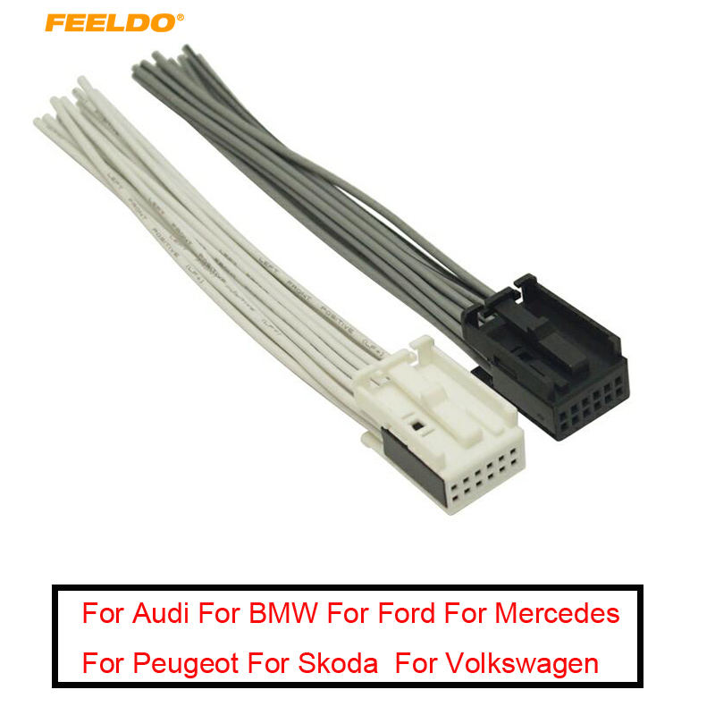 [WLLP_2054]   FEELDO 1PC Car Radio AUX Wire Harness Adapter White/Black Full 12 Pin  Connector For Ford/BMW/Peugeot/Opel Radio Stereo #5686    - AliExpress   2005 E46 Stereo 12 Pin Harness Wiring Diagram      www.aliexpress.com