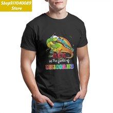 Смешные парные футболки с круглым вырезом be a unicornasaurus