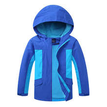 2020 Autumn Girls Boy Coat Outerwear Windbreaker Waterproof Children Jacket For Kids Hooded For Boys 2020 autumn winter waterproof windbreaker girls jacket for child hooded star polar fleece girls outerwear coat 3 12t kids jacket