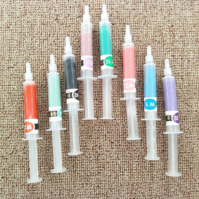 8pcs  Jade Polishing Paste Grinding Paste W0.5-W40 Polishing With Diamond Paste Polishing Wax Polishing Metal Mirror Polishing