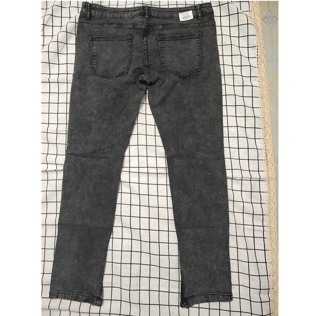 Biker Jeans Men's Distressed Stretch Ripped Biker Jeans Men Hip Hop Slim Fit Holes Punk Denim Jeans Cotton Pants Zipper jeans 4