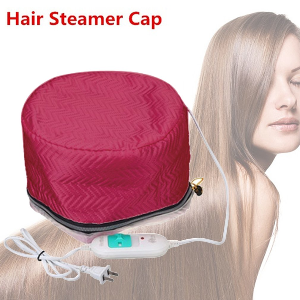 220V Electric Hair Thermal Treatment Beauty Steamer SPA Nourishing Hair Care Cap