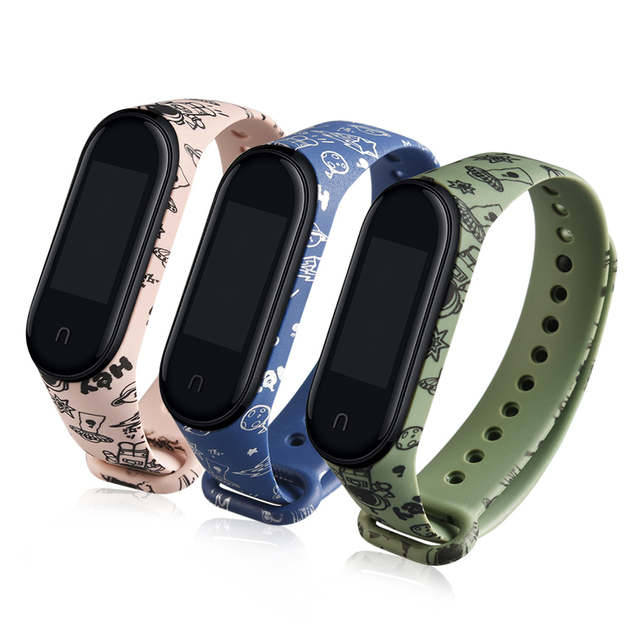 cartoon strap of Xiaomi Mi Band 5 4 6 3 Strap Fashion Soft Silicone strap band 4 5 3 Bracelet Wristband For xiomi band 5 6 strap 6