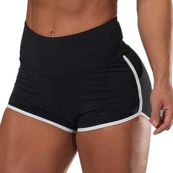 Summer Sports Shorts Ladies High Waist Running Training Shorts Breathable Shorts Seamless Fitness Leggings Gym Leggings