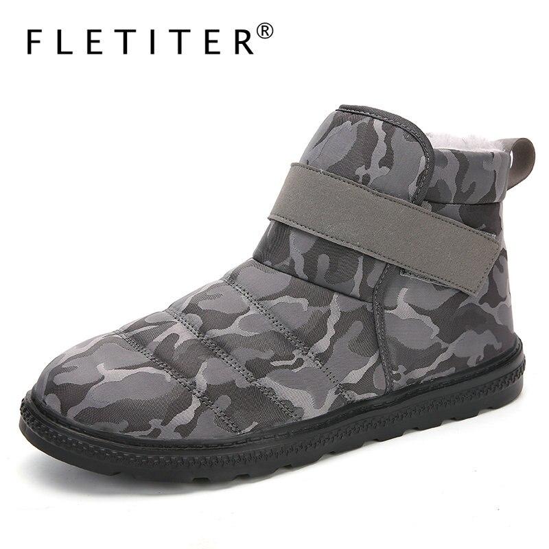 Мужские ботинки размера плюс 47 модные зимние ботинки для мужчин зимние ботинки на меху модная мужская обувь из плюша теплая водонепроницаемая мужская обувь Ботинки      АлиЭкспресс