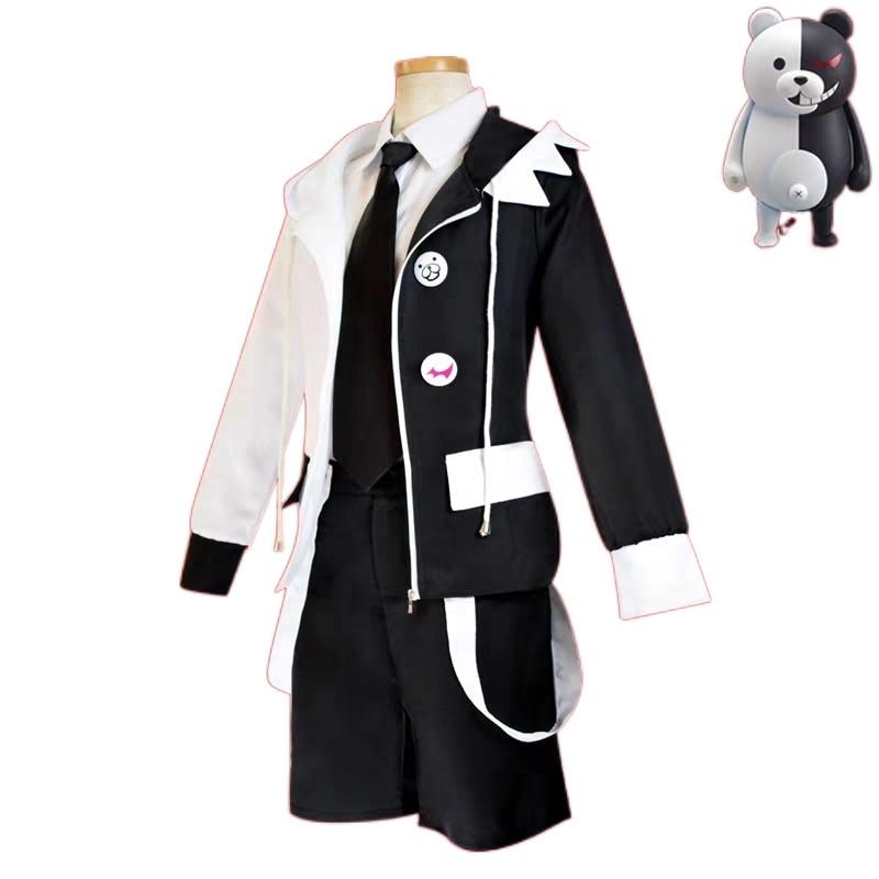 Danganronpa cosplay monokuma preto e branco urso