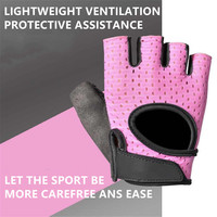 Women Fitness Sport Gloves Half Finger Hollow Weightlifting Strength Equipment Gloves Palm Thickening Non slip Yoga Gloves