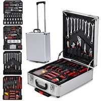 799pcs Silver Aluminum Trolley Case Wrench/Plier/ Cable Cutter/Screwdriver Multifunction Hand Tool Set