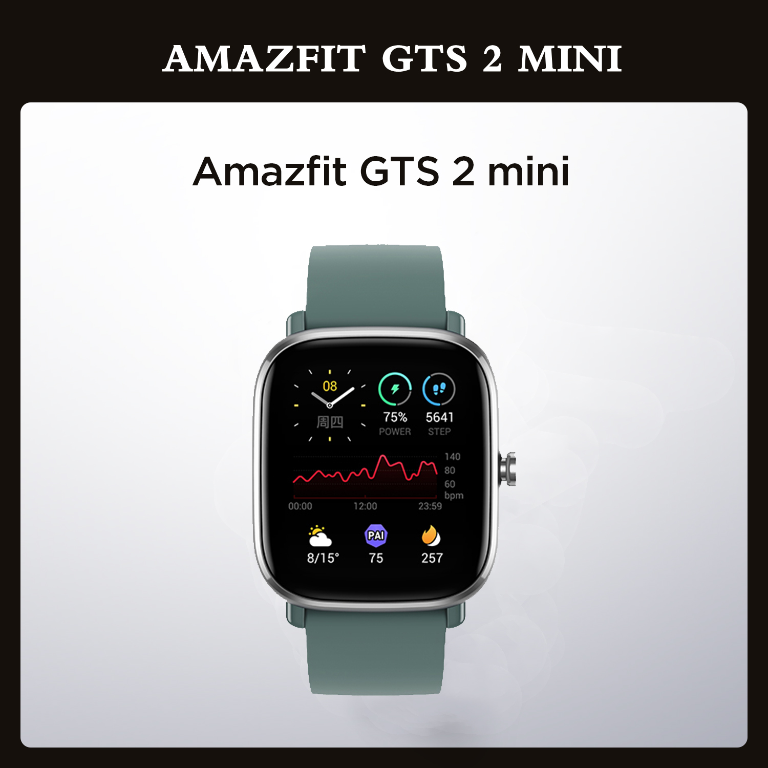 """Permalink to Global Version Amazfit GTS 2 Mini GPS Smartwatch 1.55"""" 301 ppi AMOLED Display 70 Sports Modes Smart Watch For Android iOS Phone"""