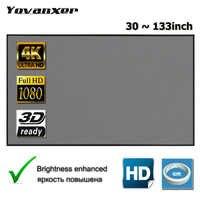 Yovanxer Schermo di Proiezione 72 84 100 120 130 133 pollici Tessuto Riflettente per i XGIMI Xiaomi JMGO AUN Proiettore Migliorare La Luminosità