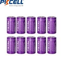 10 Pcs * PKCELL D גודל 3.6 V 19000 mAH ER34615 ליתיום Unrechargeable סוללה עבור מים/חשמל מטר