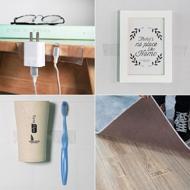 1000mm Nano Double Sided Tape Transparent Adhesive Tape Household Scotch Waterproof Tape Creative Gekkotape DIY Material Gadget 1