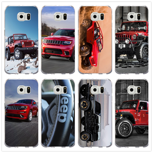 Red Jeep Wrangler Suv Sport Phone Cases Slim TPU for Samsung Galaxy Note 2 3 4 5 8 S3 S4 S5 Mini S6 S7 S8 S9 Edge Plus Fundas
