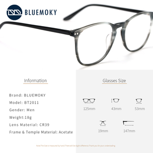 Image 4 - BLUEMOKY Acetate Prescription Glasses for Women Men Square Optical Myopia Spectacles Frames Anti Blue Light Ray Computer Eyewear