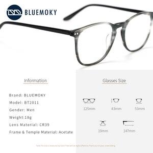 Image 4 - Мужские и женские очки для близорукости BLUEMOKY, квадратные оптические оправы для очков по рецепту