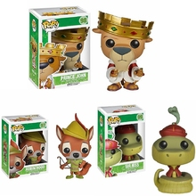 Funko POP Robin Hood 97 # SIR HISS 99 # ตุ๊กตาไวนิลAction & Toy Figuresของเล่นสะสมสำหรับเด็ก
