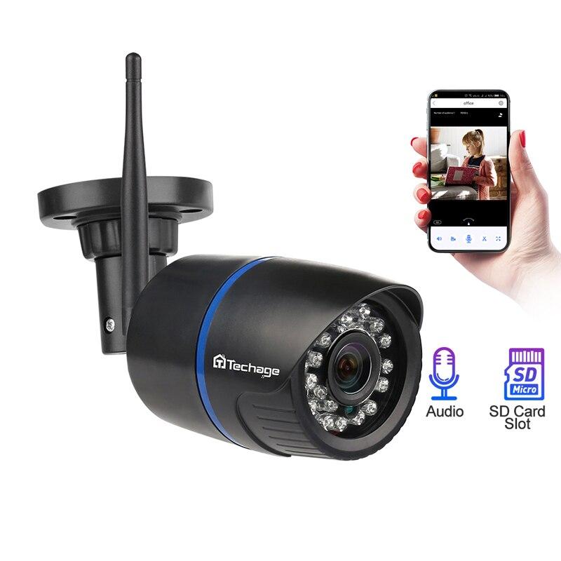 1080P 2MP caméra IP sans fil IR Vision nocturne enregistrement Audio P2P Onvif vidéo sécurité Wifi caméra extérieure CCTV Surveillance TF carte