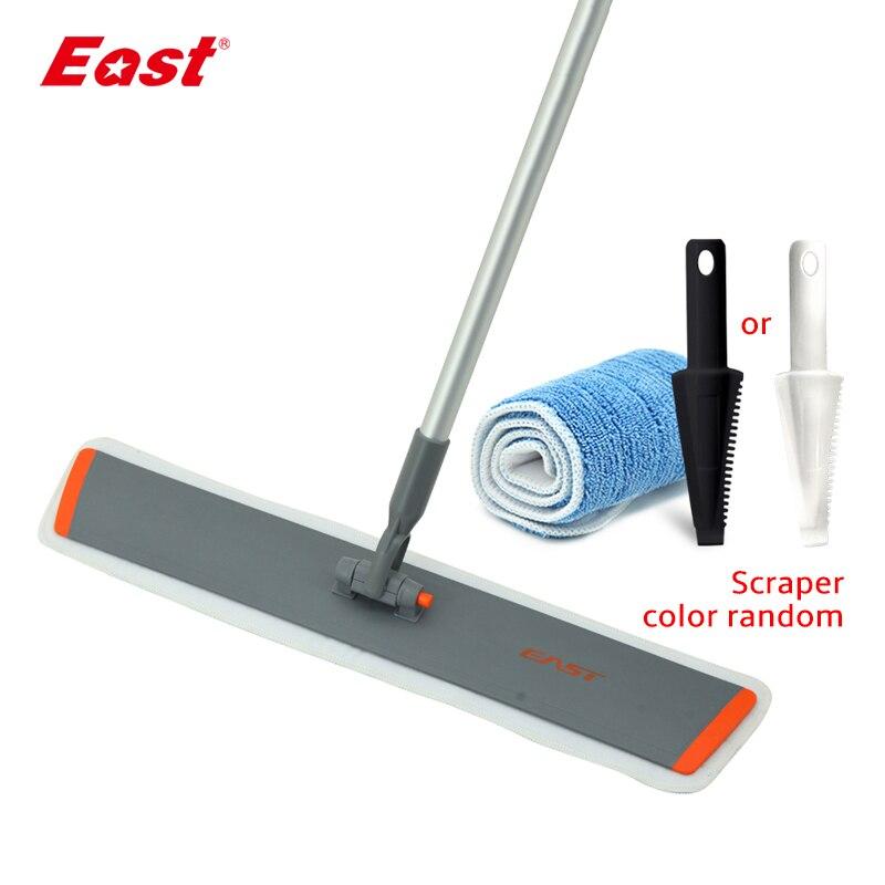 East 60CM Flat Telescopic Mop Microfiber Cloth Towel Home Floor Cleaning Flat Mop Cleaning Tools ES1859