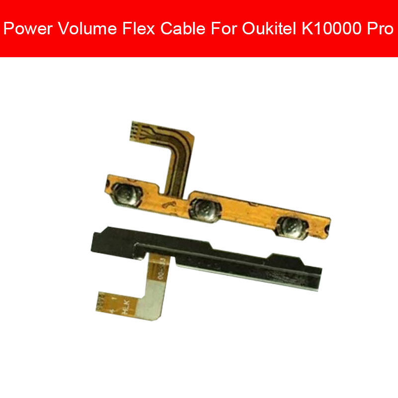 Power Volume Side Button Flex Cable For Oukitel K10000 Pro K10000Pro On Off Power Volume Control Switch Flex Cable Ribbon