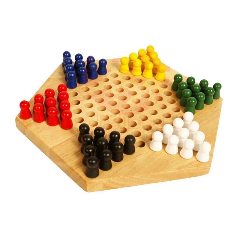 de madeira crianças clássico chinês checkers conjunto