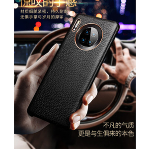 Image 3 - 2019 New Genuine Leather Back Protective Shell Skin for Huawei Mate 30 Case Luxury Accessories for Huawei Mate 30 Pro Funda Capa