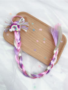 NEW Colorful Wig Pigtail Elastic Hair Band for Girls Sequin Glitter Unicorn Scrunchies