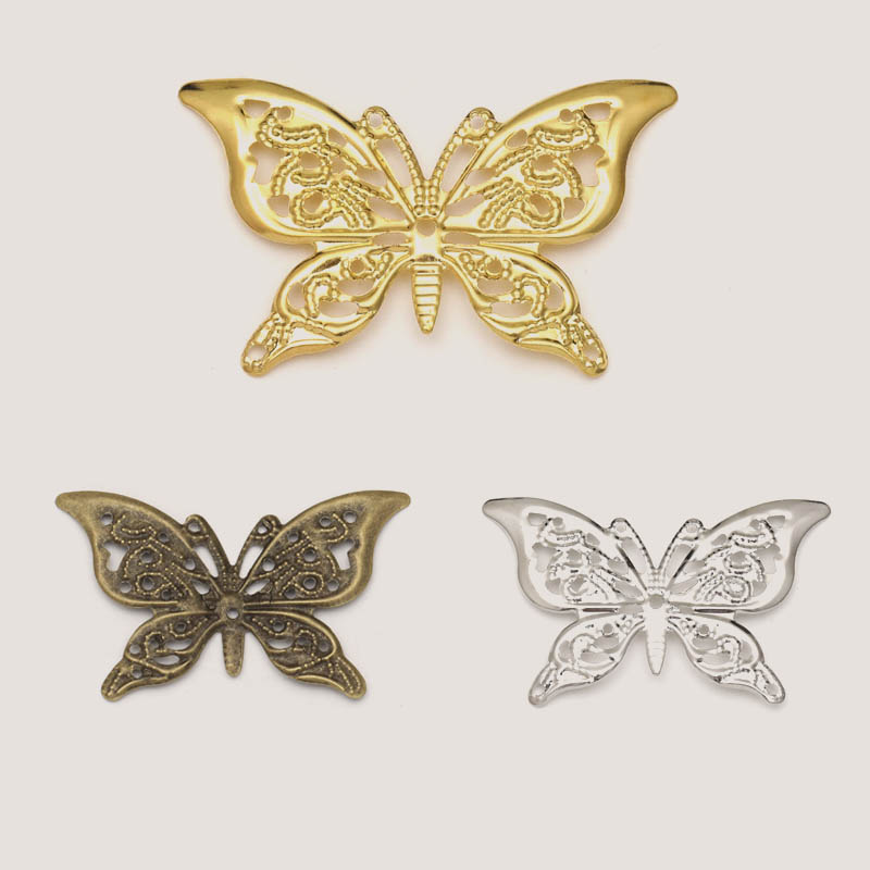 100pc Rosegold Butterfly Pendant Charms for DIY Earring Pendant Hair Jewelry