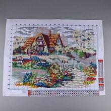 Garden Cottage Gestempeld Kruissteek Kit Geavanceerde Patroon Voor Thuis Winkel Decoratie