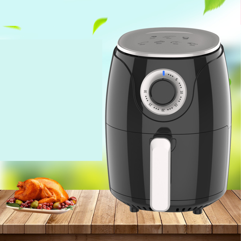 Electrical Air Fryer Household Large Capacity Sootless Smart Fries Machine Mechanical Control Stainless Steel Liner 110V/220V