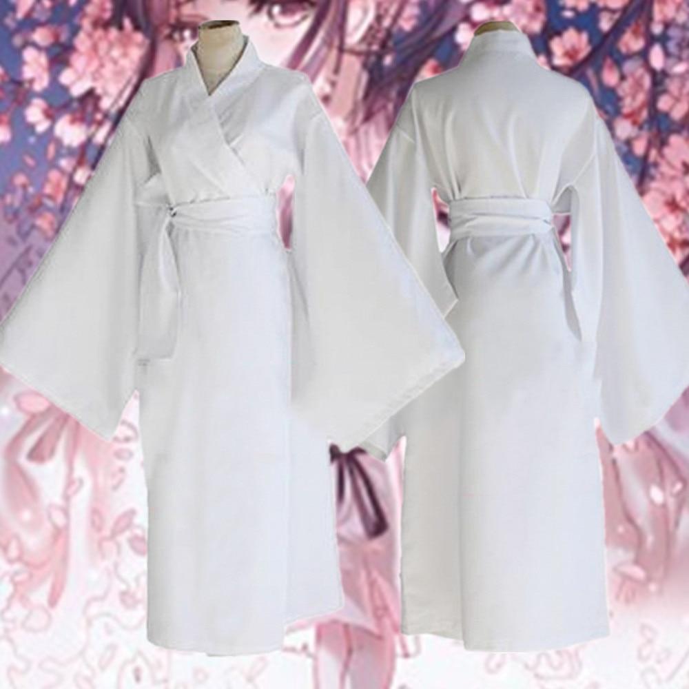 Noragami ARAGOTO Yukine White Kimono Yukine Cosplay Costume Full Suit Summer
