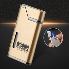 Metal Visible Gas Lighter Cigar Smoking Lighters Electronic Butane Turbo Cigarettes Accessories Gadgets for Men