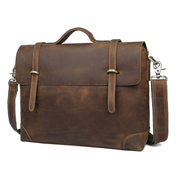 JMD Vintage Natural Crazy Horse Leather Men Messenger Bag aHandbag Briefcases Portfolio 7082R