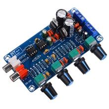 NE5532 OP-AMP Preamplifier Amplifier Volume Tone EQ Control Board Adjustable Treble Midrange Bass Preamplifier Control Board 12V