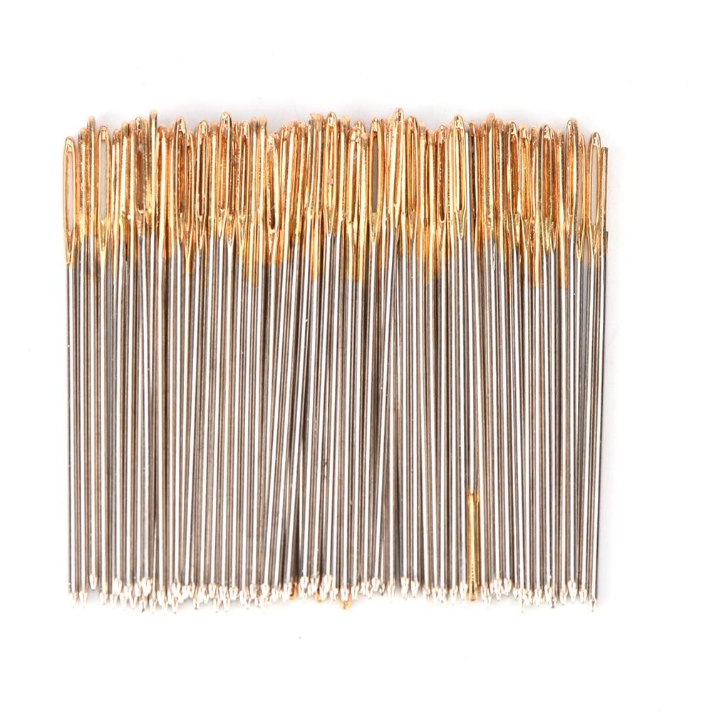 100 шт./лот иглы для вышивки крестиком с золотым хвостом, размер 24 для 11CT, набор для шитья тканью, оптовая продажа аксессуаров