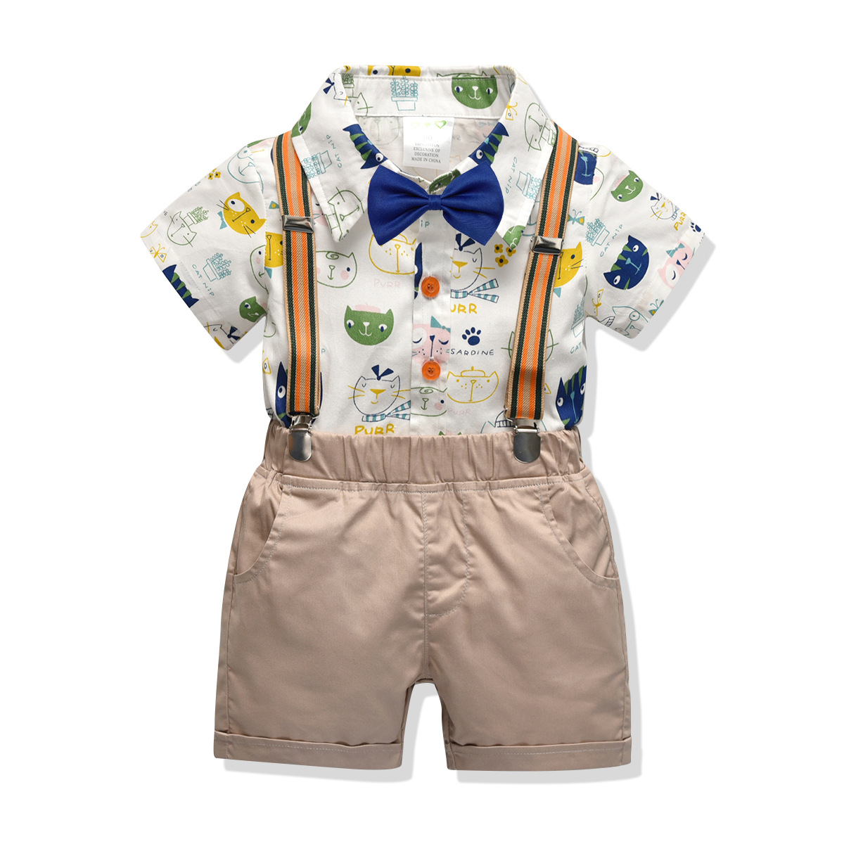 Boys Clothing Set Summer Cartoon Baby Suit Shorts Shirt 2 3 4 6 Year Children Kid Clothes Suits Formal Wedding Party Costume in Clothing Sets from Mother Kids