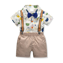 Boys Clothing Set Summer Cartoon Baby Suit Shorts Shirt  2 3 4 6 Year Children Kid Clothes Suits Formal Wedding Party Costume toddler boys clothing set summer baby suit pants shirt 2 6 year children kid clothes suits formal wedding party costume