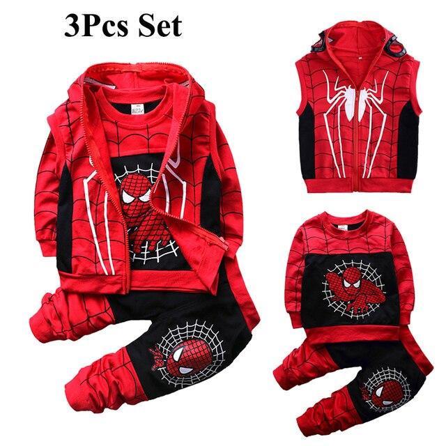 Baby Clothing Sets Cotton Sport Suit For Boys Clothes Spring Costumes Kids Clothes 3pcs Set Autumn Jumpsuit Fall