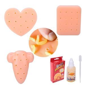 Сжимайте прыщи, игрушки для удаления прыщей персикового цвета, прекратите собирать прыщи для лица, собирая ваше лицо, игрушки TPE, игрушки для...
