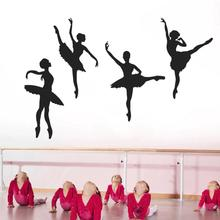 fashion Creative Ballet Girl PVC Wall Sticker Waterproof Kid Bedroom Decal Home Decor Adhesive