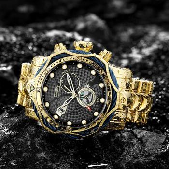 цены TEMEITE Watch Men Brand Luxury Quartz Male Clock Big Case Full Steel Strap Casual Business Military Watches Waterproof relogio