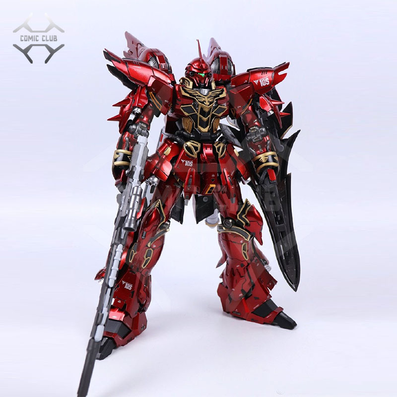 COMIC CLUB IN-STOCK Red pepper MS-10S MB metal build Sinanju 1/100 contain led light action figure robot toy(China)